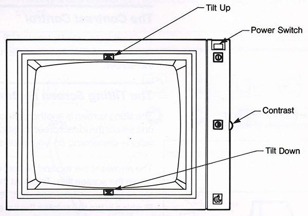 apple monitor II control 600x420 - Apple Monitor II - Full information, tech specs