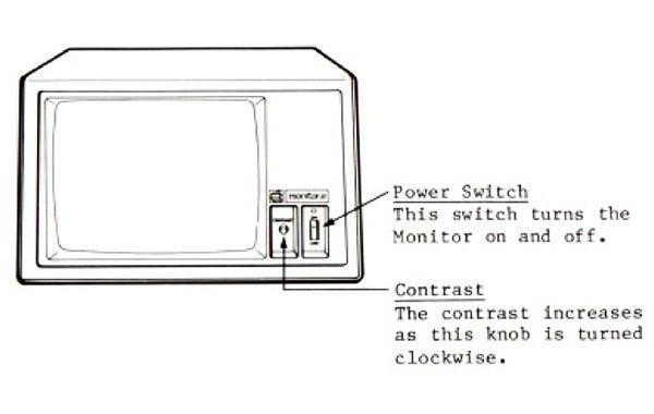 apple monitor III control 600x380 - Apple Monitor III (Monochrome)