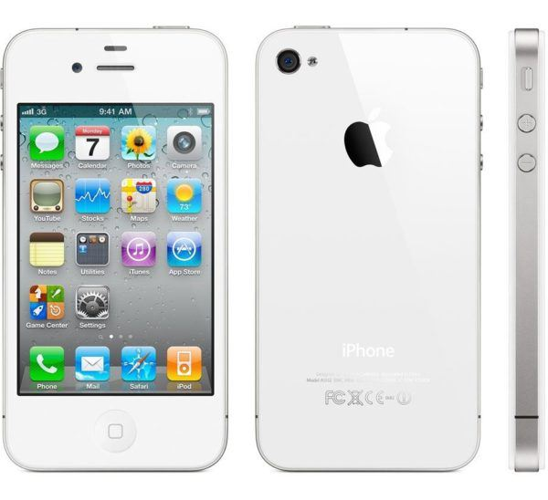 iphone 4s white 600x548 - iPhone 4s - Full Phone Information, Tech Specs
