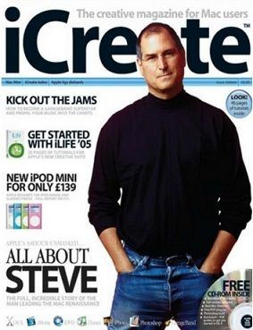 Icreate, April 2005: All about Steve.