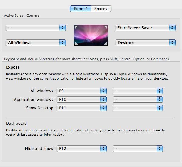 Mac Basics: Exposé Preferences