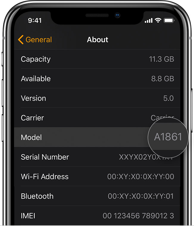 find your model number - How to Identify my Apple Watch