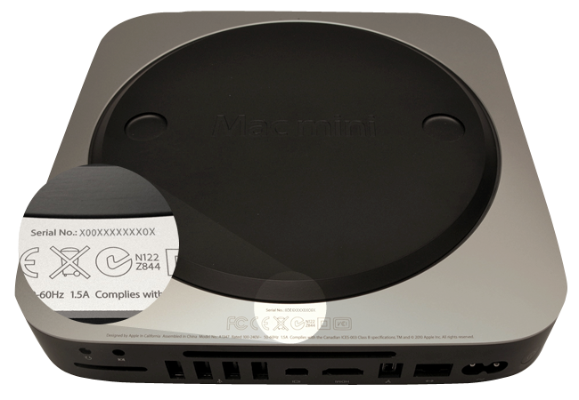 identify mac mini on the surface - How to Identify Your Mac mini