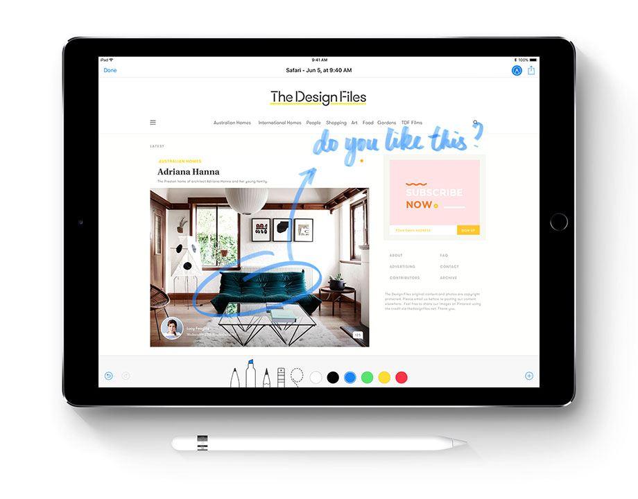iOS 11 Apple Pensil