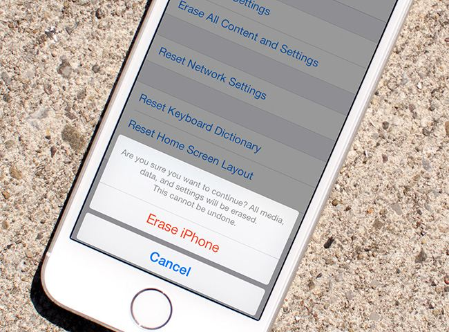 Remember that restoring your iPhone wipes all the data off the device.