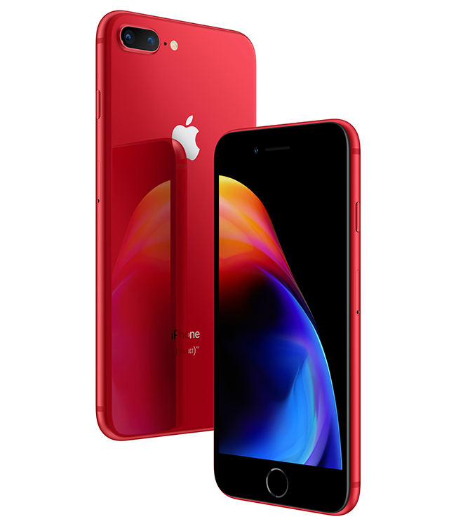 iPhone 8 (PRODUCT)RED Special Edition comes in a stunning red glass enclosure, matching aluminum band and sleek black front.