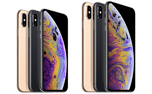The iPhone XS comes in three colors: Gold, Silver and Space Gray