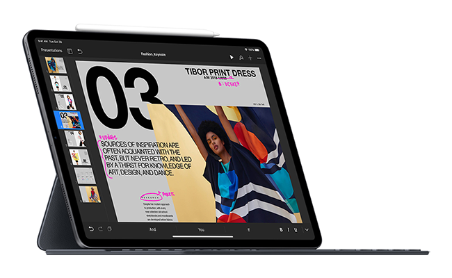 The new iPad Pro with Apple Pencil and Smart Keyboard Folio offer take-anywhere power and versatility.