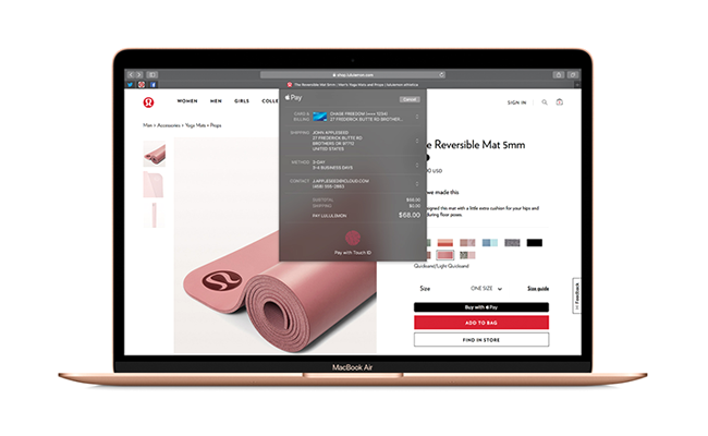 MacBook Air now features Touch ID, allowing you to instantly unlock your notebook, authenticate your identity and make fast, simple and secure purchases using Apple Pay.