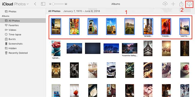 Retrieve Photos from iCloud Online.
