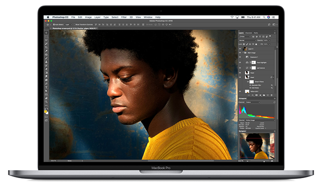 Best Mac notebook display ever now features True Tone technology for a more natural viewing experience.