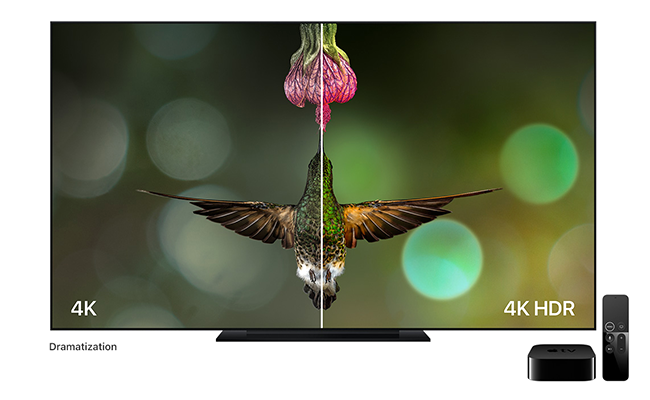 The combination of 4K HDR on Apple TV 4K lets viewers enjoy unbelievably sharp, crisp images, richer, more true-to-life colors and far greater detail in both dark and bright scenes.