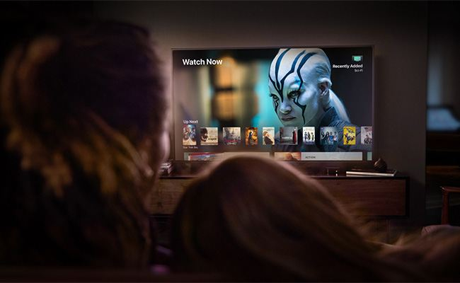 Apple TV 4K is the perfect big screen companion to iPhone and iPad, bringing family and friends together for an incredible viewing experience.