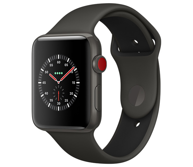 Apple Watch Series 3 Edition in a breathtaking new gray ceramic.