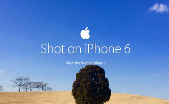 "Apple sponsors a ""Shot on iPhone"" Challenge."