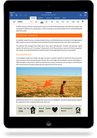 iPad Microsoft  Office