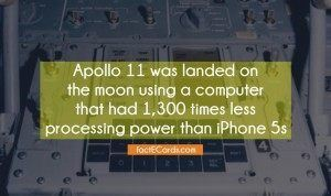 How powerful was the Apollo 11 computer compare to iPhone