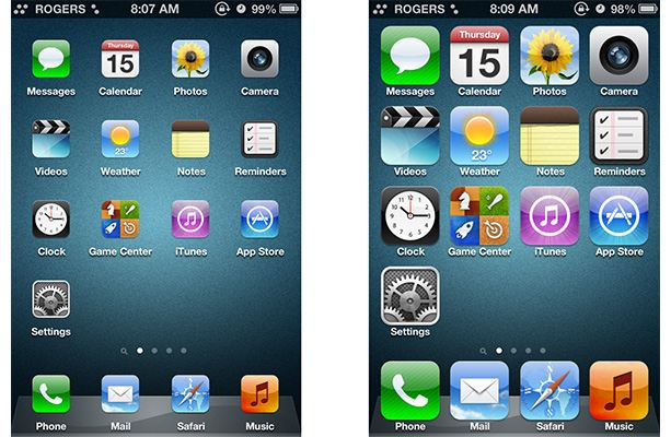 iPhones Icons Are Huge