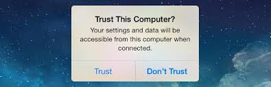'Trust This Computer' alert on your iPhone, iPad, or iPod touch