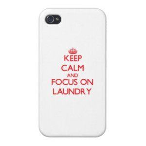iPhone in Laundry