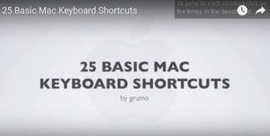 Keyboard Shortcuts on Mac