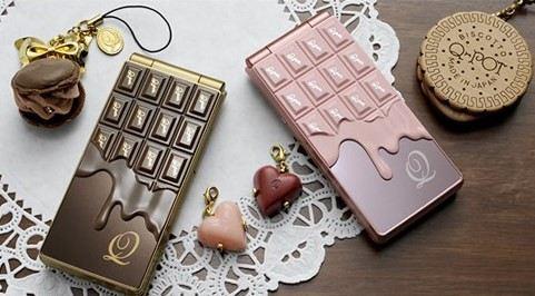 Japanese mobile phones - chocolate phones