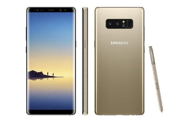 Samsung Galaxy Note 8 in Gold
