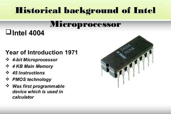 Historical Background of Intel: 4004 Microprocessor