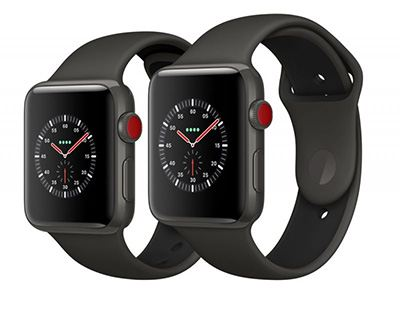 Apple Watch Series 3 Edition Gray Ceramic Case with Gray/Black Sport Band