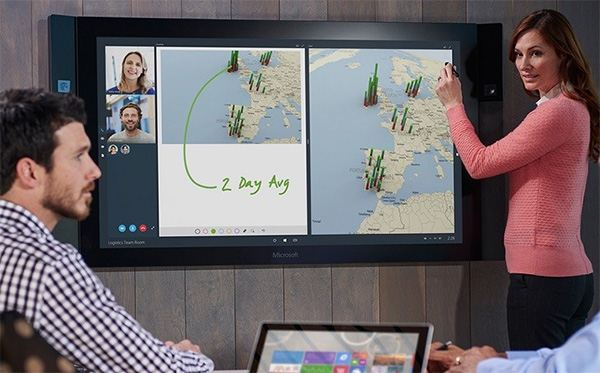 The Surface Hub 2 is designed for teamwork and cloud operations