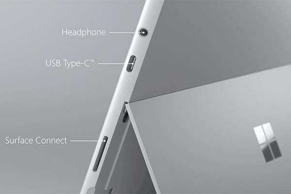 Microsoft Surface Go Tablet Connections