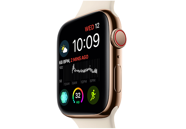 The Apple Watch Series 4 brings along a 30 percent larger display and therefore comes in two sizes — 40mm and 44mm