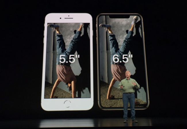 The iPhone XS Max is almost like the iPhone 8 Plus by size but its screen is one inch larger
