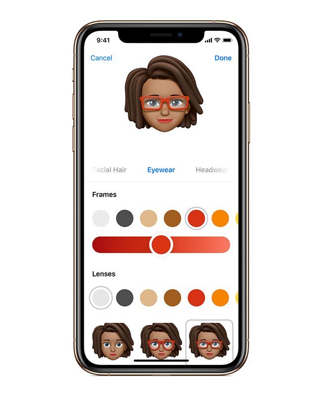 Memoji are customizable and fun to create right within Messages