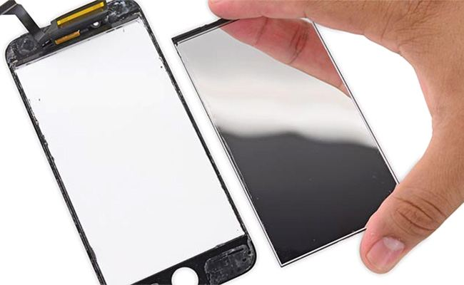 Tempered glass is the topmost layer of the display with which the user interacts.