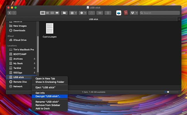 encrypt usb drive macos mojave menu decrypt - How to Encrypt a USB Drive in macOS Mojave