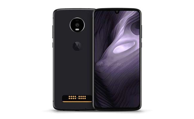 The Moto Z4 render appears on March 20, 2019.
