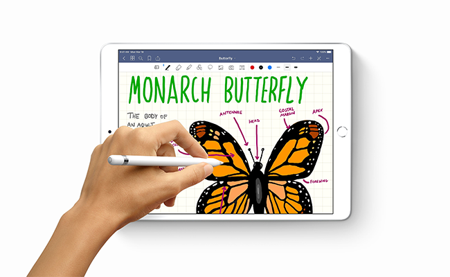 With Apple Pencil, you can turn iPad Air into your notepad, canvas, or just about anything else you can imagine.