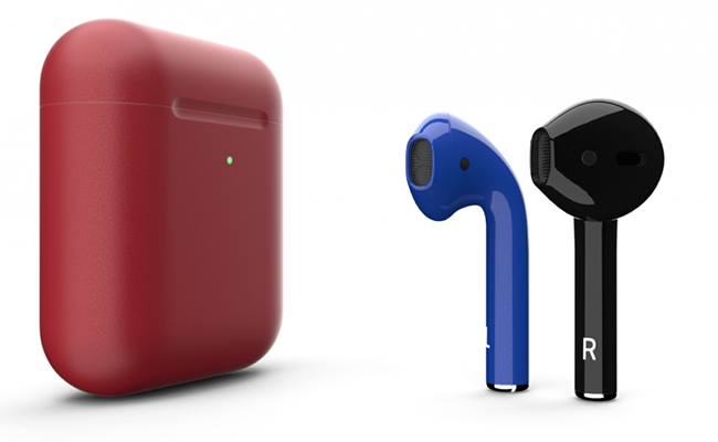 Apple AirPods 2 Color Edition.