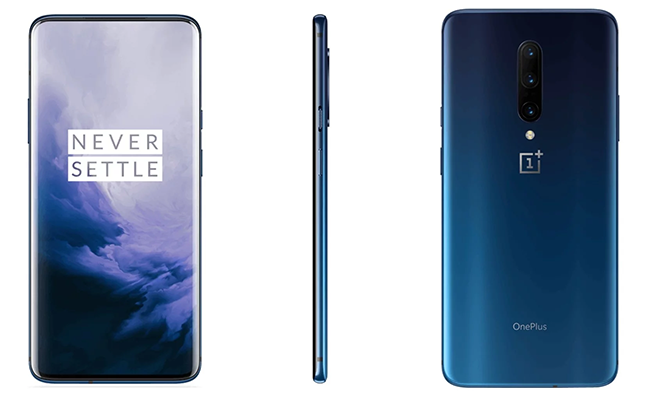 """The OnePlus 7 Pro features a curved all-screen 6.67"""" QHD+ / Full HD+ Fluid AMOLED Display with a 90Hz / 60Hz refresh rate."""