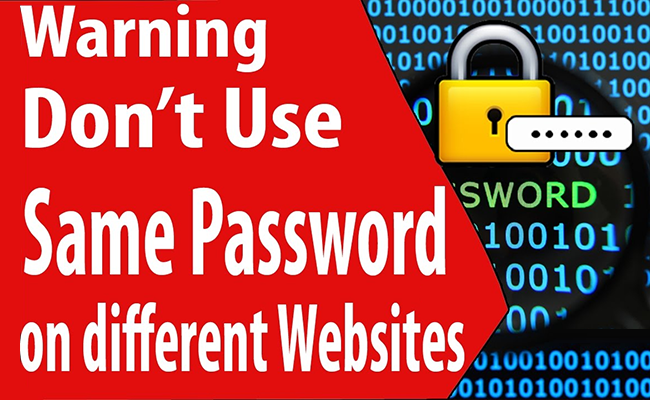Don't use the same password on different websites.
