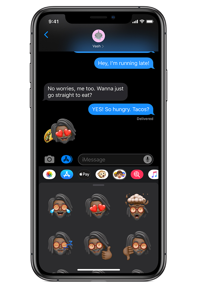 Memoji creations can be turned into sticker packs.