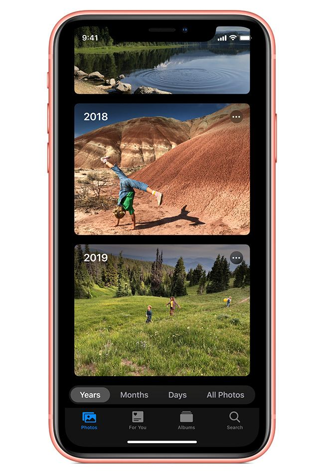 Photos are easier to browse with intelligently curated albums.