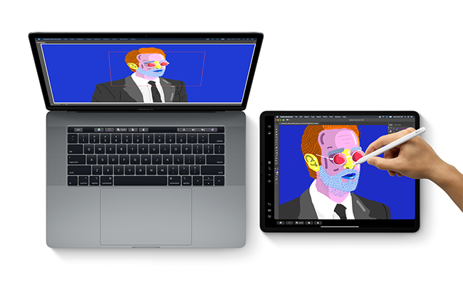 Sidecar brings the intuitiveness and precision of iPad and Apple Pencil to creative Mac apps and can run on a wireless connection.