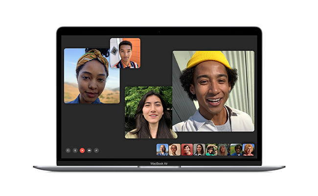 Group FaceTime makes collaborating on projects easier than ever.