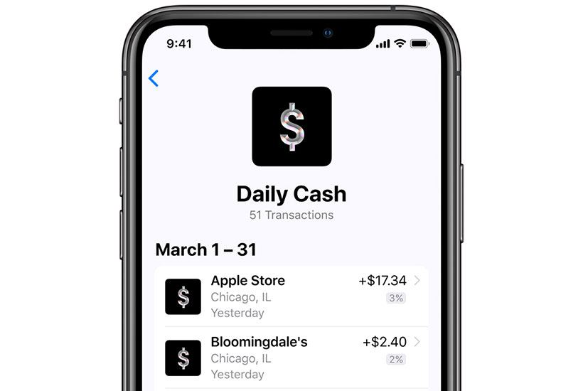 Card owner get about 1% of cash back on his Apple Cash card. Purchasing anything via Apple Pay brings 2% cashback, buying anything from the App or Apple Stores earns 3% cashback.