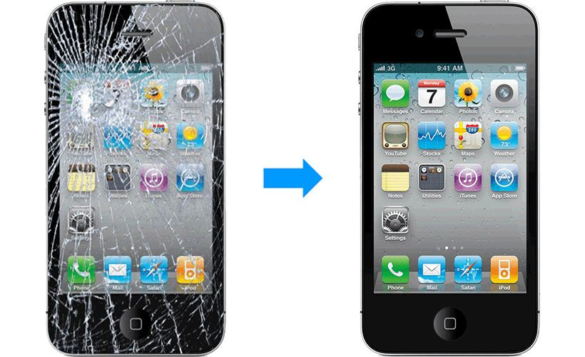 The broken screen should be either repaired and if it couldn't be repaired, then you should change your phone as soon as possible.