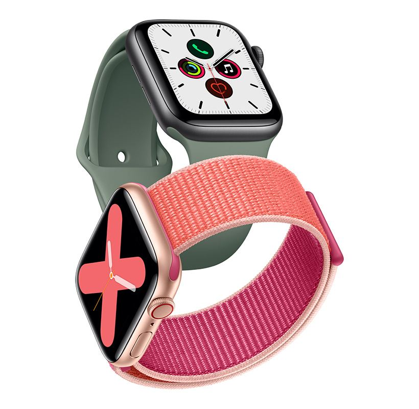 Apple Watch Series 5 Featuring an Always-On Retina Display, Built-In Compass and International Emergency Calling.