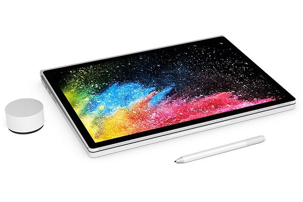 Microsoft Surface Book 2 (13.5-inch, Late 2017) with accessories